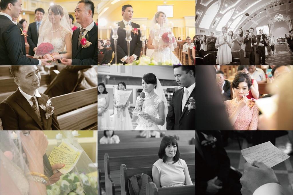 教會婚禮, 高雄婚攝, 漢來大飯店巨蛋會館, 婚禮紀錄